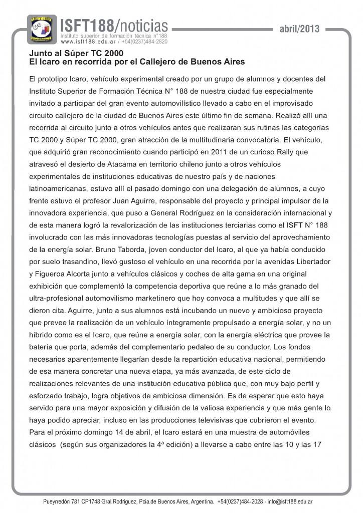 Icaro en el TC2000 - 2013 - 6